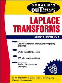 Couverture de l'ouvrage Laplace transforms (Schaum's outline series)