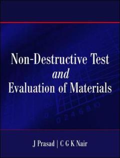 Couverture de l'ouvrage Non-destructive test and evaluation of materials