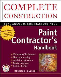 Couverture de l'ouvrage Paint contractor's handbook