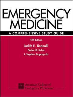 Couverture de l'ouvrage Emergency medicine: a comprehensive study guide (5th ed )