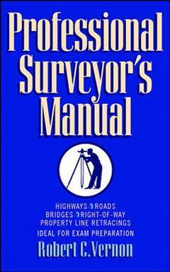 Couverture de l'ouvrage Professional surveyor's manual