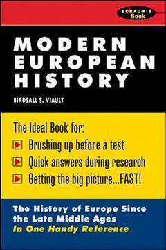 Couverture de l'ouvrage Modern european history