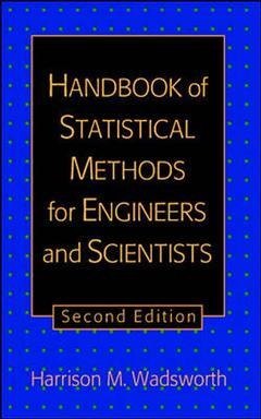 Couverture de l'ouvrage Handbook of statistical methods for engineers and scientists (2nd ed' 98)