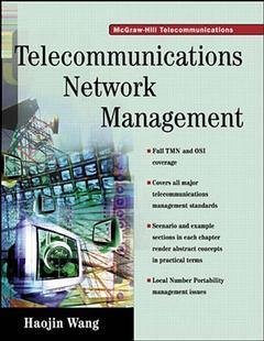 Couverture de l'ouvrage Telecommunications network management