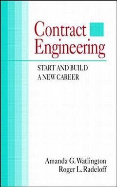 Couverture de l'ouvrage Contract engineering : start & build a new career