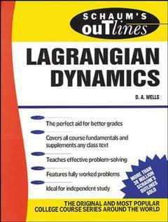Couverture de l'ouvrage Schaum's Outline Lagrangian Dynamics