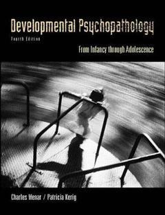 Couverture de l'ouvrage Developmental psychopathology (4th ed )