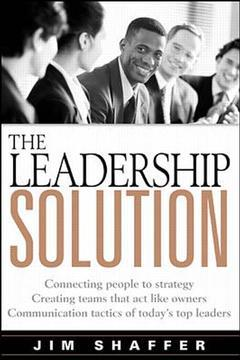 Couverture de l'ouvrage The leadership solution