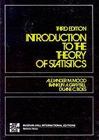 Couverture de l'ouvrage Introduction to the theory of statistics 3rd ed.