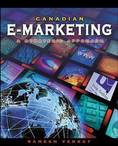 Couverture de l'ouvrage Canadian e-marketing: a strategic approach