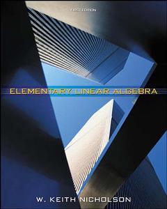 Couverture de l'ouvrage Elementary linear algebra