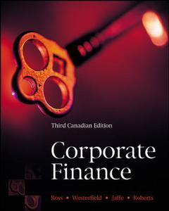Couverture de l'ouvrage Corporate finance - canadian edition (3rd ed )