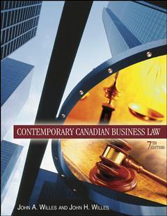Couverture de l'ouvrage Contemporary canadian business law (7th ed )