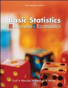 Couverture de l'ouvrage Basic statistics for business and economics, canadian edition