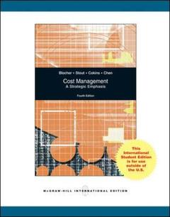 Couverture de l'ouvrage Cost management: a strategic emphasis (4th ed )