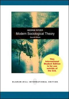 Couverture de l'ouvrage Modern sociological theory (7th ed )