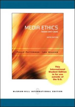 Couverture de l'ouvrage Media ethics (6th ed )