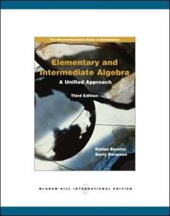 Couverture de l'ouvrage Elementary and intermediate algebra (3rd ed )