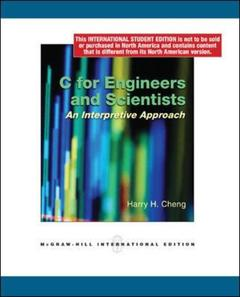 Couverture de l'ouvrage C for engineers & scientists (with CDROM)
