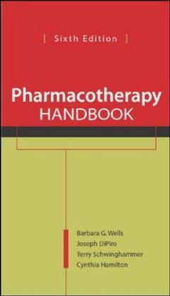 Couverture de l'ouvrage Pharmacotherapy handbook (6th ed )