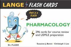Couverture de l'ouvrage Lange flash cards: pharmacology