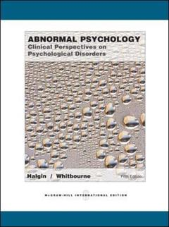 Couverture de l'ouvrage Abnormal psychology: clinical perspectives on psychological disorders (5th ed )