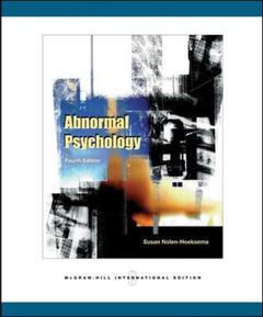 Couverture de l'ouvrage Abnormal psychology (4th ed )