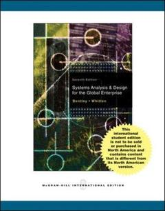 Couverture de l'ouvrage Systems analysis and design methods (7th ed )