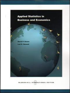 Couverture de l'ouvrage Applied statistics in business and economics with cd