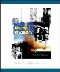 Couverture de l'ouvrage Abnormal psychology with mindmap cd and powerweb (4th ed )
