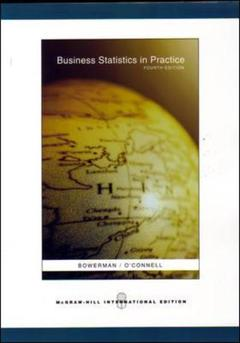 Couverture de l'ouvrage Business statistics in practice with student cd (4th ed )
