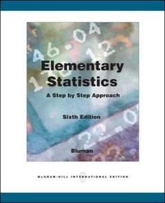 Couverture de l'ouvrage Elementary statistics: a step by step approach with mathzone (6th ed )