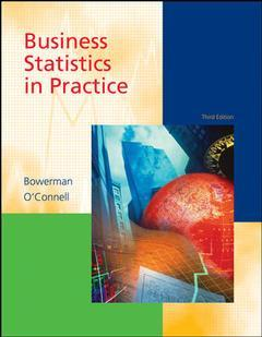Couverture de l'ouvrage Business statistics in practice with revised student cd-rom (3rd ed )