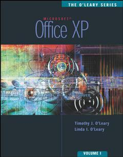 Couverture de l'ouvrage The o'leary series: office xp volume i enhanced with student data cd