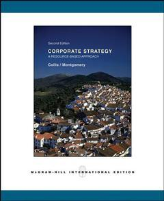 Couverture de l'ouvrage Corporate strategy : a resource based approach,