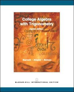 Couverture de l'ouvrage College algebra with trigonometry (8th ed )