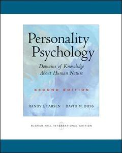Couverture de l'ouvrage Personality psychology: domains of knowledge about human nature (2nd ed )
