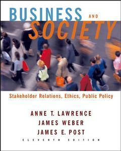 Couverture de l'ouvrage Business and society: stakeholders, ethics, public policy (11th ed )