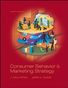 Couverture de l'ouvrage Consumer behavior (7th ed )