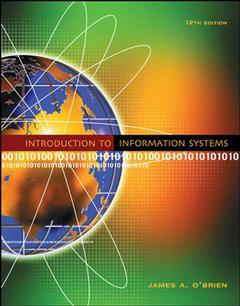 Couverture de l'ouvrage Introduction to information systems with misource and powerweb (12th ed )