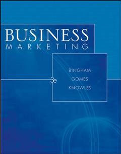 Couverture de l'ouvrage Business marketing (3rd ed )