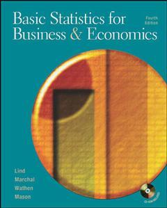 Couverture de l'ouvrage Basic statistics for business and economics with student cd and powerweb (4th ed )