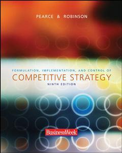 Couverture de l'ouvrage Formulation, implementation and control of competitive strategy with powerweb, olc and business week carc (9th ed )