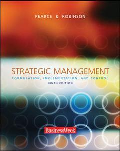 Couverture de l'ouvrage Strategic management with powerweb, olc and business week card (9th ed )