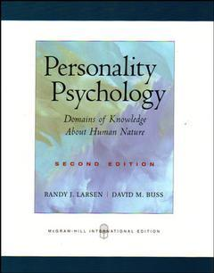 Couverture de l'ouvrage Personality psychology with powerweb (2nd ed )