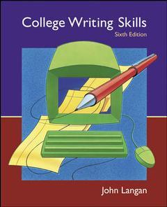Couverture de l'ouvrage College writing skills with student cd, user's guide and olc (6th ed )