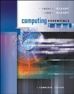 Couverture de l'ouvrage Computing essentials 2005 complete edition with student cd (16th ed )