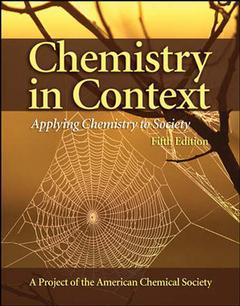 Couverture de l'ouvrage Chemistry in context with olc bi-card (5th ed )