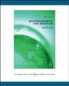 Couverture de l'ouvrage Microeconomics and behavior (6th ed )