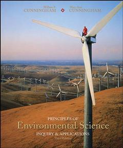 Couverture de l'ouvrage Principles of environmental science with olc password card (3rd ed )